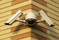 PTZ and dome camera combination